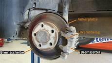 bremse wechseln hinterachse einbauanleitung vw golf 4