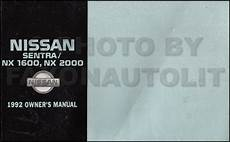 how to download repair manuals 1992 nissan nx spare parts catalogs 1992 nissan sentra and nx owners manual original oem owner guide book 1600 2000 ebay