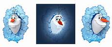 3d deco fx disney frozen olaf led bedroom wall light ebay