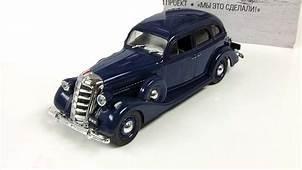 ZIS 101 1936s 143 Soviet Limousine Car Blue Diecast Model