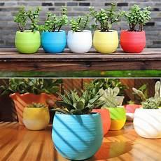 p0tzxs mini colourful plastic plant flower pots home office
