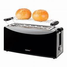 toaster schwarz korona 21044 langschlitz toaster schwarz toaster