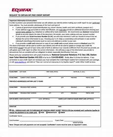 free 7 sle annual credit report forms in doc pdf pages