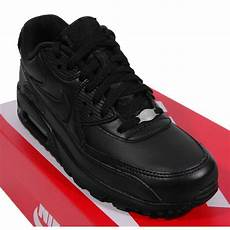 nike air max 90 leather black mens shoes from