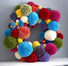 how to make a pom pom wreath hobbycraft