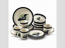 16 Pc. Loon Lake Dinnerware Set   115517, Dinnerware