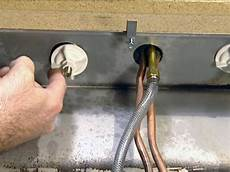 Kitchen Sink Nut And Washer by How To Install A Single Handle Kitchen Faucet How Tos Diy
