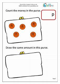 counting money worksheets reception 2314 count the coins 1 money maths worksheets for year 1 age 5 6