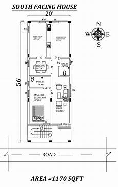 vastu based house plans 20 x56 2bhk south facing first floor house plan as per