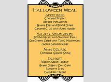 CONFUSEDSKY: Halloween Themed Menu Names