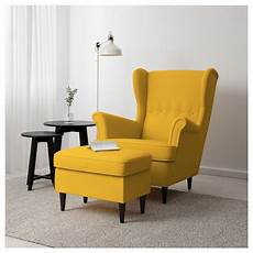 ikea strandmon footstool skiftebo yellow in 2019 ikea