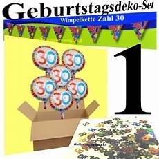 geburtstagsdeko 1 geburtstag ballonsupermarkt onlineshop de 30 er geburtstag set 1