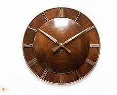 kienzle deco wall clock walnut bauhaus mid century
