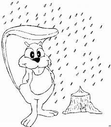 eichhoernchen im regen ausmalbild malvorlage jahreszeiten