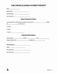 down payment receipt free car vehicle down payment receipt template word pdf eforms free fillable forms