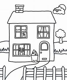 and coloring pages for houses colouring