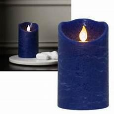 led echtwachs kerze quot twinkle quot blau mit beweglicher flamme