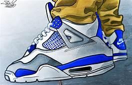 Drawn Cartoon Jordan  Pencil And In Color
