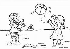 Coole Malvorlagen Quiz Sommer Kinder Spielen Wasserball Zum Ausmalen Ausmalen