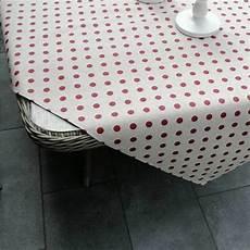 tischdecken gepunktet aus beschichteter baumwolle mit