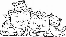 animal cat family coloring page wecoloringpage