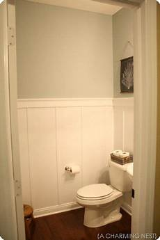 Bathroom Pictures You To See To Believe by A Diy Board And Batten Backdrop With Diy Crown Moulding At