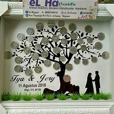 jual mahar siluet pohon unik seserahan pernikahan uang kuno di lapak elha kreasita ita wijayanti