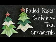 folded paper tree ornaments diy origami