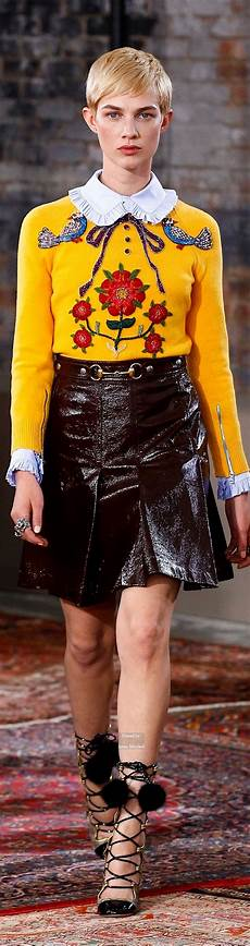 Modetrends 2016 Frauen - gucci pre 2016 collection вышивка mode f 252 r