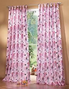 schlaufenschal kinderzimmer kinderzimmer gardine schlaufenschal set girl motiv pink