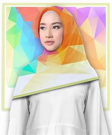 Jilbab Segi Empat Motif Colour Graphic Printout Shop