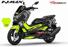 Modifikasi Stiker Nmax by Modifikasi Striping Yamaha Nmax Black Sun Moon Vr46 Winter