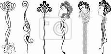 Jugendstil Malvorlagen Lernen Jugendstil Muster Zeichnen