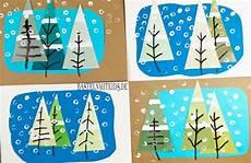 weihnachtskarten basteln mit tannenb 228 umen bastelnmitkids