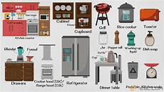 kitchen furniture names kitchen appliances list of kitchen objects gadgets 7