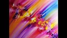 peinture acrylique abstraite facile textures avec un