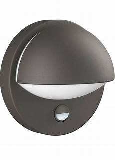 circular outdoor wall light bulk head with or without pir sensor by philips ip44 ebay