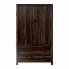Bozeman Solid Wood Rustic Wardrobe Armoire With Drawers