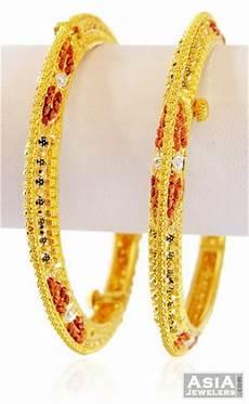 designer 22k 3 tone kadas ajba59154 22kt gold designer kadas intricately designed with