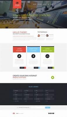 radio website moto cms html template 54668