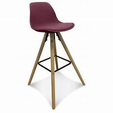 chaise de bar haute chaise de bar design scandinave bordeaux keny lot de 2