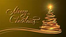 merry christmas yellow images writing golden ribbon text quot merry christmas quot and christmas tree over yellow background 3d