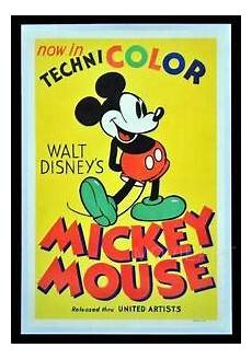 Mickey Mouse Disney Vintage Poster Affiche A4