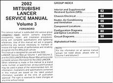 service manuals schematics 2003 mitsubishi lancer free book repair manuals 2002 mitsubishi lancer repair shop manual original 3 vol set