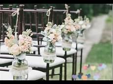 wedding ceremony chair decorations diy mason jars youtube