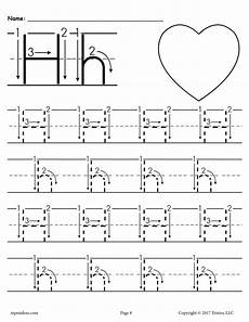 easy letter tracing worksheets 23878 printable letter h tracing worksheet with number and arrow guides alphabet tracing worksheets
