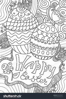 Ausmalbilder Ostern A4 Vector Pattern Happy Easter Coloring Book Stock Vector
