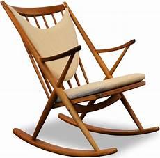 chaise 224 bascule scandinave bramin en ch 234 ne et teck frank