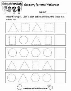 free printable patterns worksheets for kindergarten 317 this is a shape tracing patterns worksheet you can print or use it