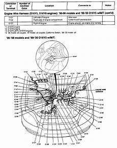 99 honda civic engine diagram automotive parts diagram images